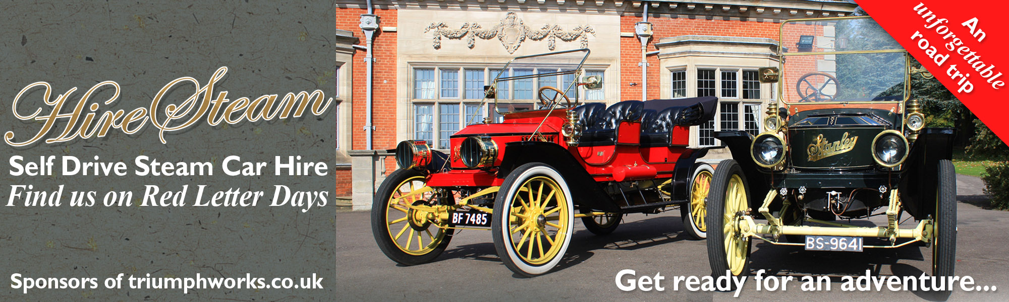 Hire Steam Stanley Steam Car Driving and Hire