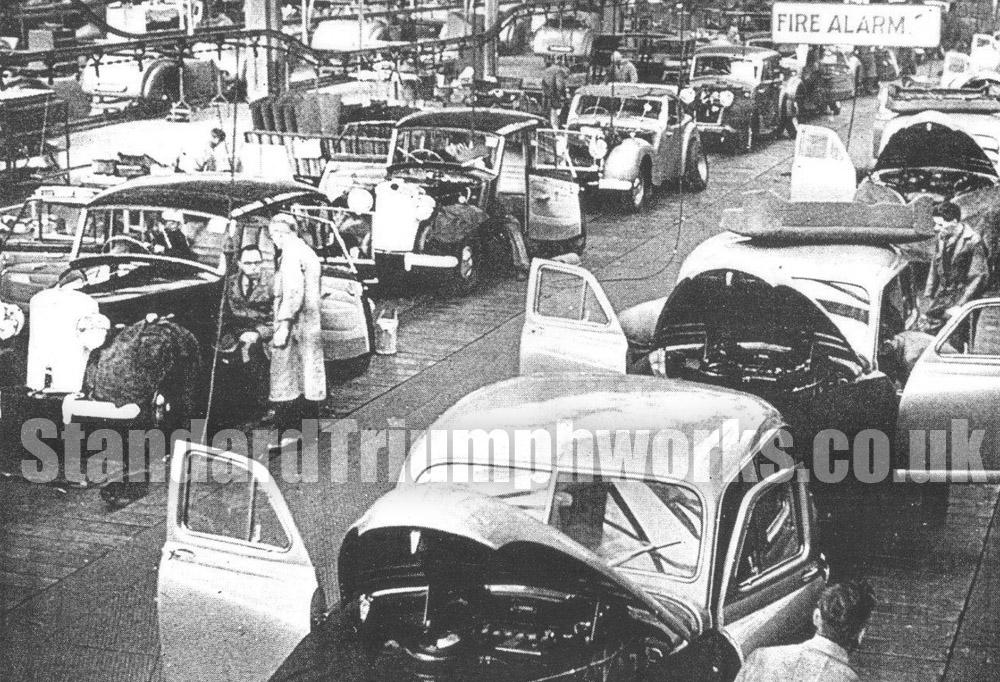 1947 Assembly Line Standard Triumph