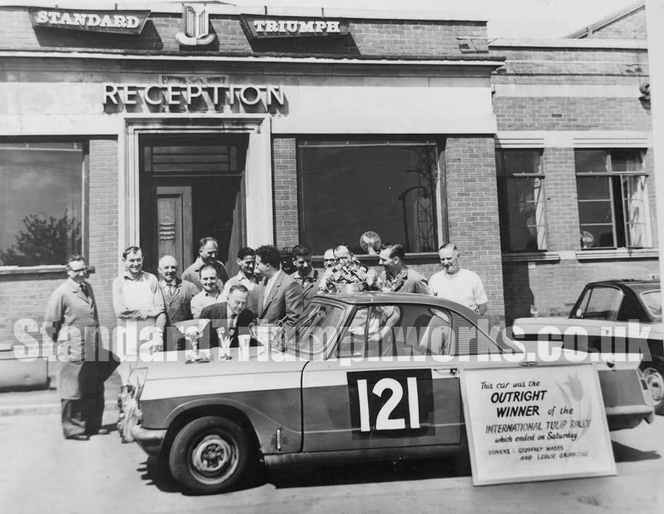 Geoff Mabbs Triumph Herald Tulip Rally Car