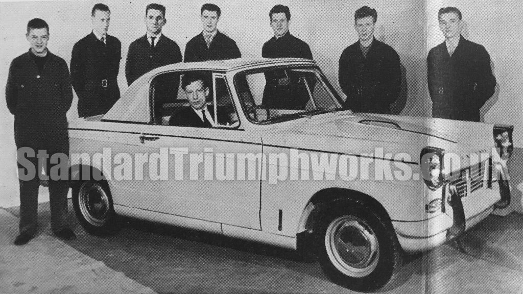Triumph Herald Coupe Assembly Team