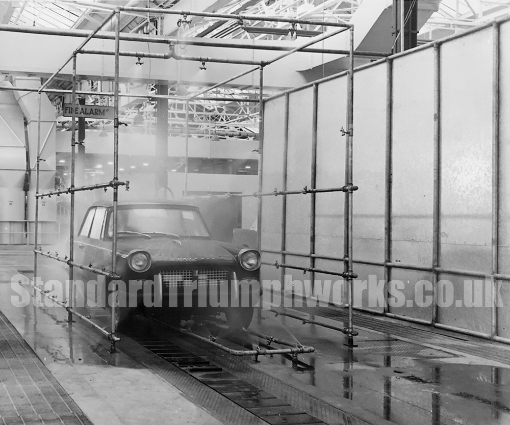 Triumph cars water test