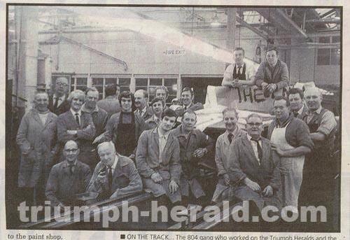 Triumph Factory - last Herald